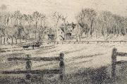 Camille Pissarro Field with mill at Osny oil painting picture wholesale
