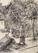 Camille Pissarro Woman emptying a wheelbarrow oil painting picture wholesale