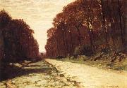 Claude Monet Road in Forest Sweden oil painting artist
