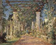 Colin Campbell Cooper Pergola at Samarkand Hotel,Santa Barbara oil painting picture wholesale