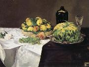 Edouard Manet Fruits et Melon sur un Buffet oil painting picture wholesale