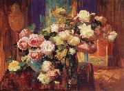 Franz Bischoff Roses n-d oil painting picture wholesale