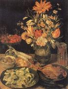 Georg Flegel Still Life with Flowers and Food oil painting picture wholesale