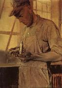 Grant Wood The Product checker oil painting picture wholesale