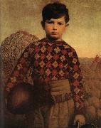 Grant Wood The Sweater of Plaid Sweden oil painting reproduction