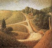 Grant Wood New Road oil painting picture wholesale