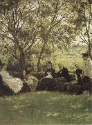 Ilya Repin On the Turf bench oil painting picture wholesale