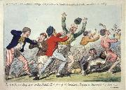 Isaac Cruikshank Lord Howe they run or The British Tars giving the Carmignols a Dressing on the Memorable 1st of June 1794 oil painting picture wholesale