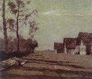 Isaac Levitan Village by Moonlight oil painting picture wholesale