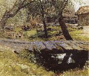 Isaac Levitan Little Bridge,Village of Savinskaya,Study oil painting picture wholesale