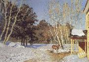 Isaac Levitan March oil painting artist