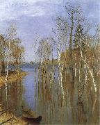 Isaac Levitan Spring,Flood Water oil painting artist