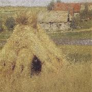 Isaac Levitan Mill and Village near a Stream oil painting picture wholesale