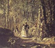 Ivan Shishkin A Stroll in the Forest oil painting picture wholesale