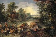 Jan Brueghel Village Street oil painting picture wholesale