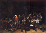 Jan Steen Prince-s Day,Interior of an inn with a company celebration the birth of Prince William III oil painting