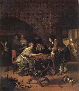 Jan Steen Backgammon Playersl oil painting