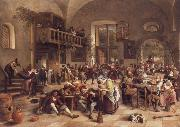 Jan Steen Interior of an inn oil painting picture wholesale