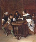 Jan Steen The Tric-trac players oil painting picture wholesale