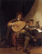 Jan Steen Self-Portrait as a lutenist oil painting