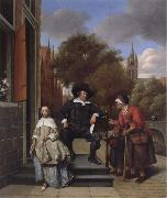 Jan Steen A Delf burgher and his daughter oil painting picture wholesale
