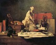 Jean Baptiste Simeon Chardin Still Life with the Attributes of the Arts oil painting picture wholesale