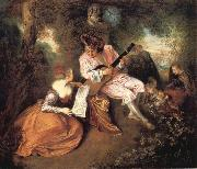 Jean-Antoine Watteau The scale of love oil painting picture wholesale