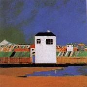 Kasimir Malevich A white house in the landscape oil painting picture wholesale