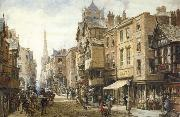 Louise Rayner The Cross,Eastgate,Chester oil painting picture wholesale