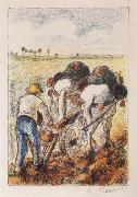 Camille Pissarro The ploughman oil painting picture wholesale
