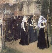Mikhail Nesterov The Taking of the Veil oil painting artist