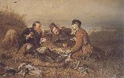 Perov, Vasily Hunters at Rest oil painting picture wholesale