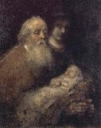 REMBRANDT Harmenszoon van Rijn Simeon with the Christ Child in the Temple oil painting picture wholesale