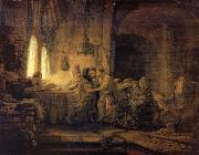REMBRANDT Harmenszoon van Rijn The Parable of The Labourers in the vineyard oil painting picture wholesale