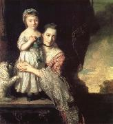 REYNOLDS, Sir Joshua Georgiana,Countess spencer,and Her daughter Georgiana,Later duchess of Devonshire oil painting picture wholesale