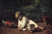 Thomas Eakins The Baby play on the floor Sweden oil painting reproduction