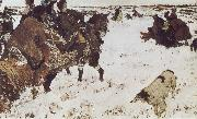 Valentin Serov Peter the Great Riding to Hounds oil painting picture wholesale