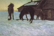 Valentin Serov Colts at a Watering-Place. oil painting picture wholesale