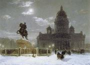 Vasily Surikov Monument to Peter the Great on Senate Squar in St.Petersburg oil painting picture wholesale