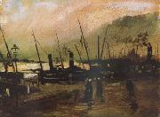 Vincent Van Gogh Quayside wtih Ships in Antwerp (nn04) oil painting picture wholesale