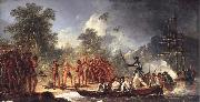 unknow artist The Landing at Tanna Tana one of the new hebrides oil painting picture wholesale