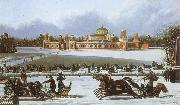 unknow artist Sleigh Races in the Petrovsky Park oil painting picture wholesale