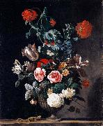 Abraham jansz.begeyn Flowers in a Stone Vase oil painting artist