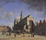 BERCKHEYDE, Gerrit Adriaensz. The Market Place and the Grote Kerk at Haarlem oil painting picture wholesale