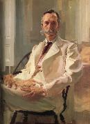 Cecilia Beaux Man with a Cat oil painting artist