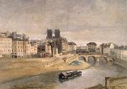 Corot Camille The Seine and the Quai give orfevres oil painting picture wholesale