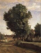 Corot Camille Entrance of Coubron oil painting picture wholesale