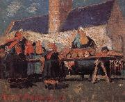 Delaunay, Robert Breton-s Market oil painting picture wholesale
