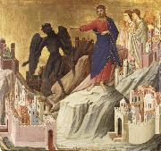 Duccio di Buoninsegna The Temptation of Christ on the Mountain oil painting picture wholesale