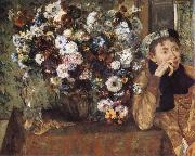 Edgar Degas Woman and chrysanthemum oil painting picture wholesale